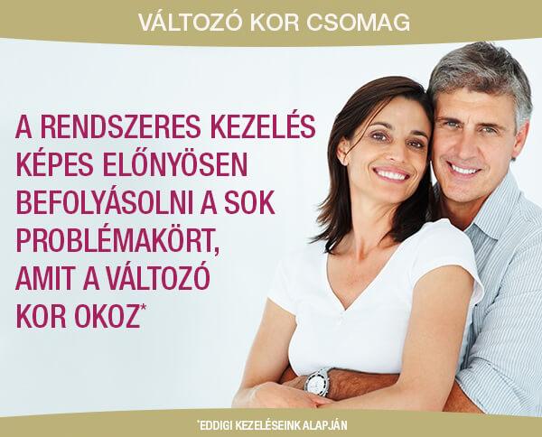Középkorú pár boldog, mert Sensolite kezelést kaptak
